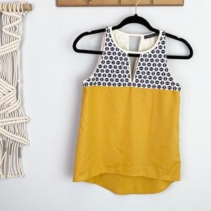 THML Mustard and Blue Tank Top